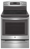 """GE - Profile Series 30"""" Self-Cleaning Freestanding Electric Convection Range - Stainless-Steel"""