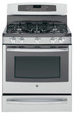 "GE - Profile Series 30"" Self-Cleaning Freestanding Dual Fuel Convection Range - Stainless-Steel"