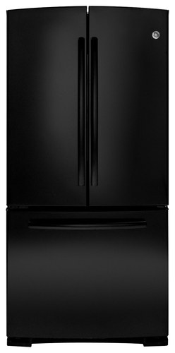 GE - 22.7 Cu. Ft. Frost-Free French Door Refrigerator - Black