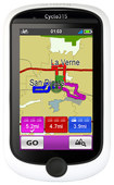 """Magellan - Cyclo 315HC 3"""" GPS Cycling Computer with Built-In Bluetooth - White/Black"""