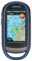 "Magellan - eXplorist 510 Pro Angler FHS3L 3"" GPS with Lifetime Map Updates - Blue/Gray"