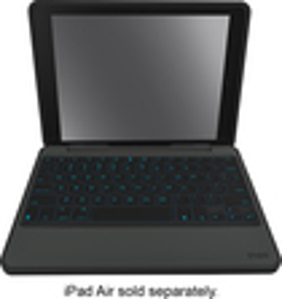 ZAGG - Rugged Folio Keyboard Case for Apple® iPad® Air 2 - Black