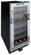 Vinotemp - 33-Bottle Wine Cooler - Black