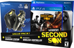 Sony - DualShock 4 Wireless Controller for PS4 with Infamous Second Son - Black