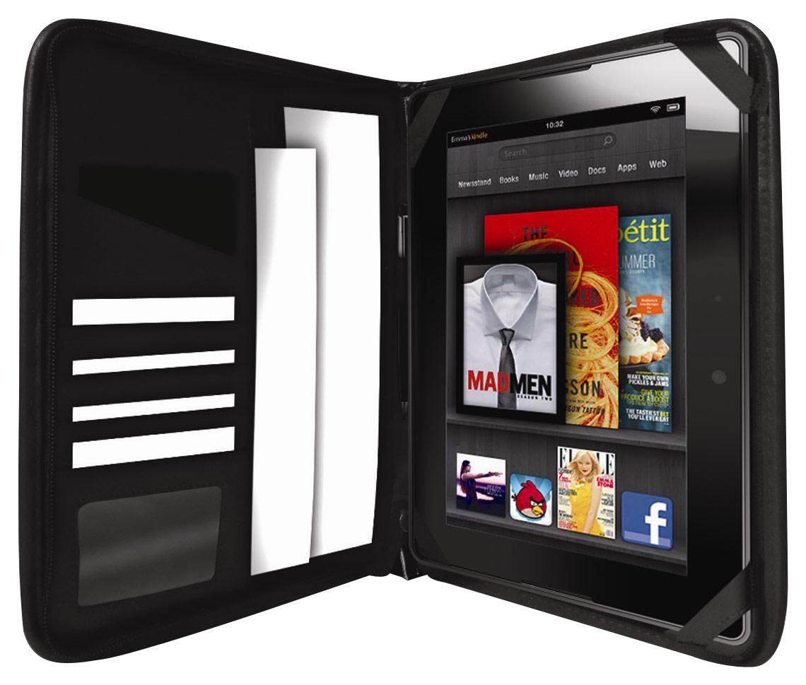 """Hipstreet - Portfolio Case for Kindle Fire HD 7"""" - Black"""