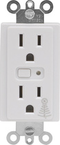 GE - Duplex AC Outlet for Z-Wave Certified Light Fixtures and Small Appliances - White