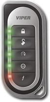 Viper - Responder LE Remote for Select Vehicle Security Systems - Black/Silver