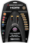 Monster - Black Platinum Series 12' In-Wall HDMI A/V Cable - Black