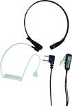 Midland - Acoustic Throat Microphone for Most GMRS Radios with a PTT/VOX Compartment - Black