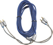 Kicker - Z-Series 9.9' 2-Channel RCA Audio Cable - Blue