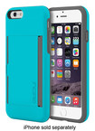 Incipio - STOWAWAY Credit Card Case for Apple® iPhone® 6 - Cyan/Gray