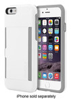Incipio - STOWAWAY Credit Card Case for Apple® iPhone® 6 - White/Gray