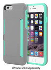 Incipio - STOWAWAY Credit Card Case for Apple® iPhone® 6 - Gray/Teal