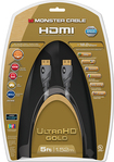Monster - Gold Series 5' In-Wall HDMI A/V Cable - Gray