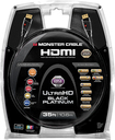 Monster - Black Platinum Series 35' In-Wall HDMI A/V Cable - Black