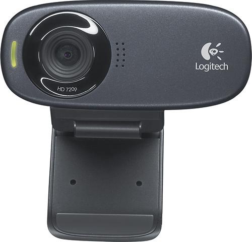 Logitech - C310 Webcam - Black