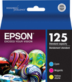 Epson - 125 3-Pack Ink Cartridges - Cyan/Magenta/Yellow