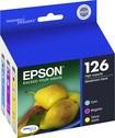 Epson - DURABrite 126 3-Pack Ink Cartridges - Cyan, Magenta, Yellow