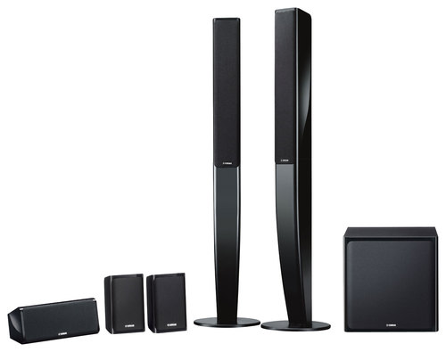 Yamaha - 5.1-Channel Home Theater Speaker System with Powered Subwoofer - Black