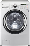 LG - 3.6 Cu. Ft. 9-Cycle Washer and 6-Cycle Dryer Combo - White