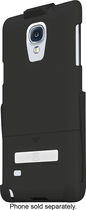 Platinum - Case with Holster and Kickstand for Samsung Galaxy Note 4 Cell Phones - Black