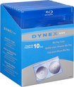 Dynex™ - Blu-ray Disc Cases (10-Pack) - Blue/Clear