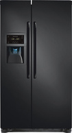 Frigidaire - 22.6 Cu. Ft. Counter-Depth Side-by-Side Refrigerator - Ebony black