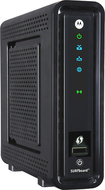 Motorola - SURFboard eXtreme DOCSIS 3.0 Wireless-N Cable Modem and Gigabit Router - Black