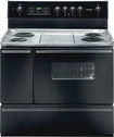 """Frigidaire - 40"""" Self-Cleaning Freestanding Double Oven Electric Range - Black"""