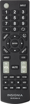 Insignia - Replacement Remote for Select Insignia™ TVs - Black