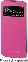 Samsung - S-view Flip Cover For Samsung Galaxy S 4 Cell Phones - Pink