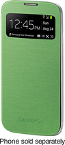 Samsung - S-view Flip Cover For Samsung Galaxy S 4 Cell Phones - Green