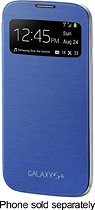 Samsung - S-View Flip Cover for Samsung Galaxy S 4 Cell Phones - Light Blue
