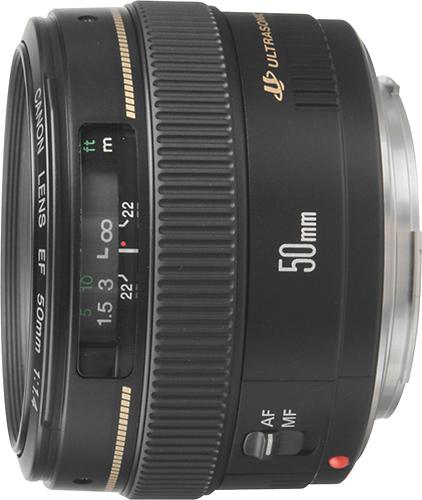 Canon - EF 50mm f/1.4 USM Standard Lens - Black