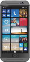 HTC - One (M8) for Windows 4G with 32GB Memory Cell Phone - Black (AT&T)