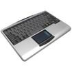 Adesso - Wireless Mini Touchpad Keyboard - Black, Silver