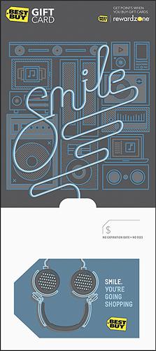 BestBuyGC - $50 Smile - You're Going Shopping Gift Card - Multi