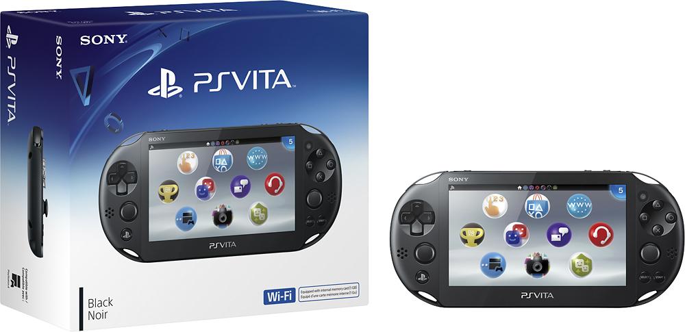 Sony - PlayStation Vita (Wi-Fi) - Crystal Black
