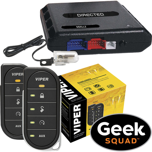 Viper - Viper 4806V 2-Way LED Remote Start System, Tilt Switch, Interface Module and Geek Squad® Installation