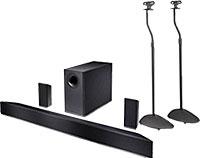Vizio 5.1-Ch. Soundbar w/Subwoofer & Pair of Speaker Stand