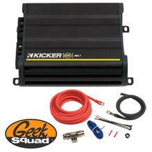 Kicker CX Series 300W Mono Amplifier with Low-Pass Crossover, Amplifier Installation Kit & Geek Squad® Installation