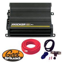 Kicker CX600.1 1200W Mono Amplifier with Adjustable Bass Boost, Installation Kit & Geek Squad® Installation