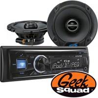 Alpine CD - iPod®-Ready In-Dash Deck, 2-Way Speakers & Geek Squad® Installation