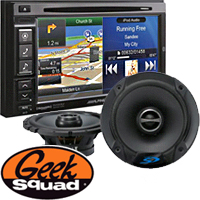 Alpine GPS - CD/DVD In-Dash Receiver, 2-Way Speakers & Geek Squad® Installation
