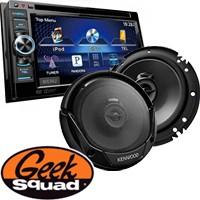 Kenwood DVD/iPod®-Ready In-Dash Receiver, 3-Way Speakers & Geek Squad® Installation