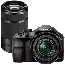 Sony Alpha a3000 20.1MP Compact System Camera with 18-55mm Lens & Extra 55-210mm Lens