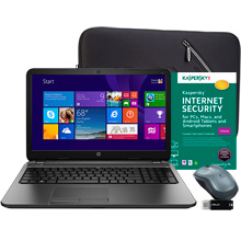 HP 15-r011dx Laptop, Internet Security Software, Sleeve, Mouse & Flash Drive Package