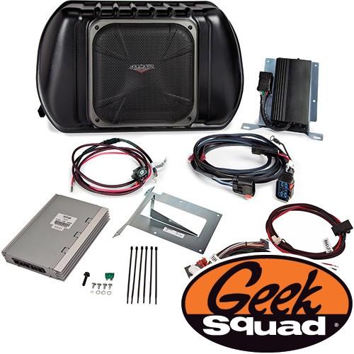 Kicker Digital Amplifier, Subwoofer, Enclosure & Geek Squad® Installation for Select 2007-2010 Jeep 4-Door Models