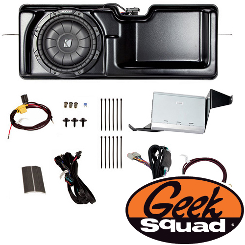 Kicker Digital Amplifier, Subwoofer, Enclosure & Geek Squad® Installation for Select 2011-2014 Ford F-150 Trucks