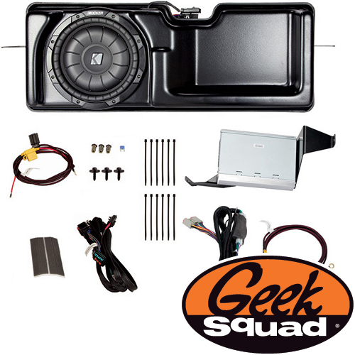 Kicker Digital Amplifier, Subwoofer, Enclosure & Geek Squad® Installation for Select 2013-2014 Ford F-150 Trucks